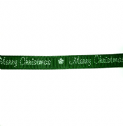 Green Merry Christmas Ribbon